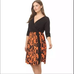IGIGI Black & Orange Taylor Wrap Dress Size 12